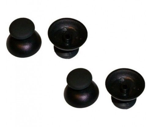 2x tappi fungo shell thumbsticks analogico nero ricambio controller PS3 1 coppia
