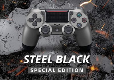 CONTROLLER PS4 wireless colore STEEL BLACK SPECIAL ED. DUALSHOCK 4 nuovo