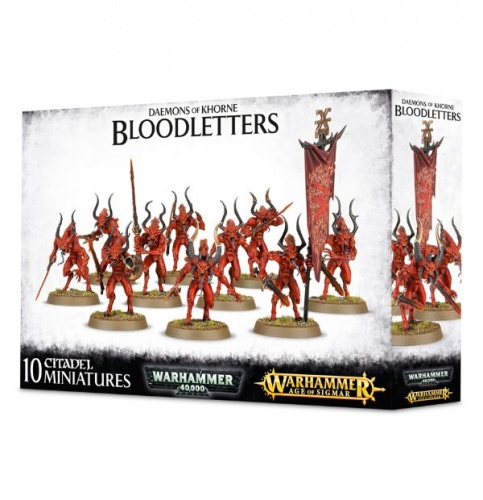 Games Workshop CITADEL - WARHAMMER AGE OF SIGMAR DAEMONS OF KHORNE BLOODLETTERS