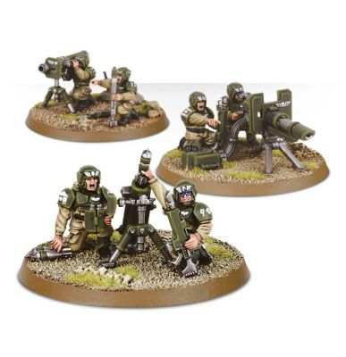 Games Workshop CITADEL - WARHAMMER ASTRA MILITARUM CADIAN HEAVY WEAPON SQUAD