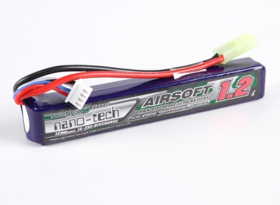 SOFTAIR BATTERIA LIPO TURNIGY NANO-TECH 1200 MAH 25-50C 2 CELL 7.4 V